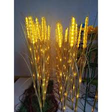 Đèn LED Trang Trí Hình Bông Lúa Mạch Vàng Bó 10 Bông Siêu Đẹp