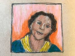 Author/artist's impression of bell hooks, inspired by images in ...