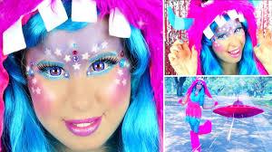 colorful glitter monster alien makeup