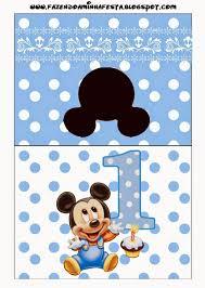 Mickey Primer Ano Con Lunares Etiquetas Para Candy Bar Para