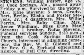 Obituary for William STEVENS Foster (Aged 76) - Newspapers.com