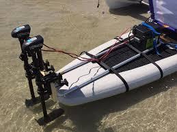 paddle boat trolling motor mount