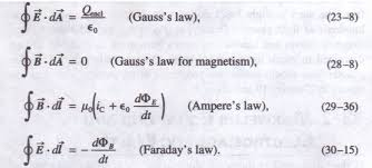 equations and electromagnetic waves