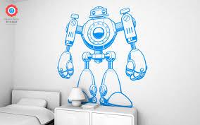 Robot Xxl Wall Decal Nursery Kids Rooms Wall Decals Boy Room Wall Stickers Robot Wall Decals And Wall Decors