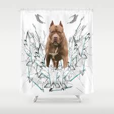 Car Stickers Pitbull Gift Shirt Dog Shower Curtain By Khodz Society6