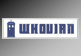 Whovian Car Bumper Sticker Decal For Doctor Who And Time Travel Fans 200 X 52 Mm Ebay