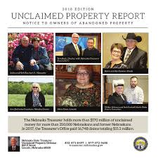 2018 EDITION UNCLAIMED PROPERTY ... - NEBRASKA STATE TREASURER