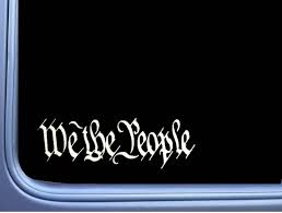 Amazon Com Ez Stik Patriotic We The People A026 2a Constitution Sticker Window Decal We The People Automotive