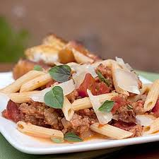 pasta with italian sausage and tomatoes