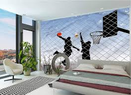 Amazon Com Lcggdb Boys Room Large Wall Mural Basketball In The Street Removable Large Sticker Foil Wall Decor For Office Kids Bedroom Nursery Family Decor 144x100 Inch Home Kitchen