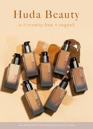 is huda beauty free and vegan