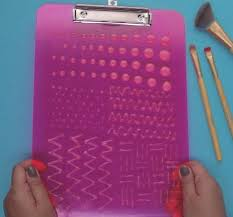 diy makeup brush cleaning board