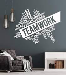 Amazon Com Vinyl Wall Decal Teamwork Success Office Decor Worker Stickers Ig4152 Black Arts Crafts Sewing