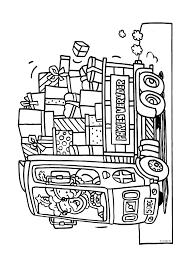 Vrachtauto Vol Met Cadeautjes Sinterklaas Kleurplaten