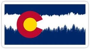 Amazon Com Colorado Flag Treeline Silhouette Sticker Graphic Auto Wall Laptop Cell Truck Sticker For Windows Cars Trucks Kitchen Dining