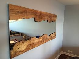 handcrafted live edge wall mirror with