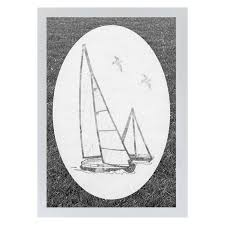 Oval Sailboat Static Cling Window Film World