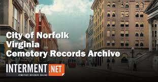 city of norfolk va cemetery records