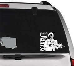 Amazon Com Gottalovestickerz Scarface Gangster Drug Permanent Vinyl Decal Sticker For Laptop Tablet Helmet Windows Wall Decor Car Truck Motorcycle Size 05 Inch 13 Cm Wide Color Gloss Black Home Kitchen