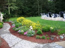 backyard flower garden ideas large and