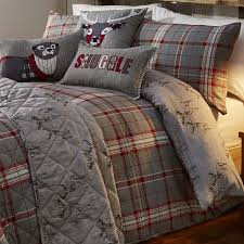 ludlow check red silver bedding range
