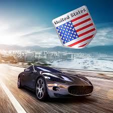 Car Truck Graphics Decals 1pcs Aluminum 3d Metal Usa American Flag Sticker Emblem Badge Decal Car Decorate Motors