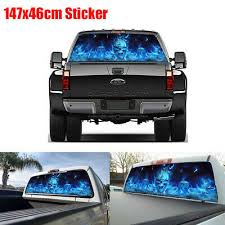Car Truck Graphics Decals Blue Flame Skull Graphic Rear Window Decal Sticker For Jeep Pickup Off Road Suv Motors Nahmionlinestore Com