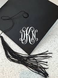 Monogram Decal For Graduation Cap 3 Inches By 3 Inches Etsy