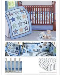 new 7 piece boy baby bedding set stars