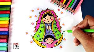 cómo dibujar a la virgen de guadalupe