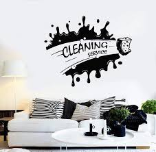 Vinyl Decal Cleaning Service Housekeeping Decor Cleaner Wall Stickers Unique Gift Ig2678 Cleaning Walls Wall Stickers Unique Cleaning Service