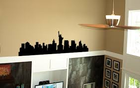 New York City Skyline Wall Decal Trading Phrases