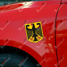 Pair 4 High Germany German Flag Coat Of Arms Eagle Car Decal Bumper Sticker Ebay