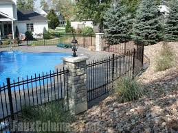 Barron Designs Backyard Pool Landscaping Pool Landscaping Fence Around Pool