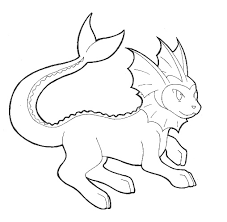 Pokemon Vaporeon Coloring Pages Getcoloringpages Com