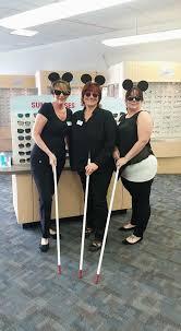 associates dressed as 3 blind