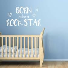 Amazon Com Chromantics Born To Be A Rockstar Wall Decal Quote Wall Quote Kiss Cut Decals Home Kitchen