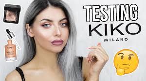 testing kiko makeup full face first