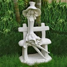 funky on seat garden sculptures
