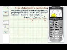 solve a trigonometric equation using a