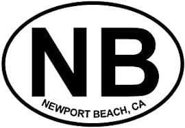 Amazon Com Newport Beach Ca Euro Oval Bumper Sticker Automotive