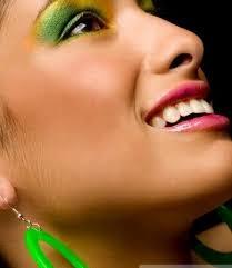 exotic green and yellow eye makeup