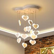 pink white loving heart hanging ceiling