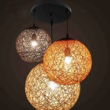 colorful rattan shade industrial lamp