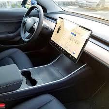 Tesla Model 3 Carbon Fiber Pattern Center Console Dashboard Vinyl Stickers Decal Tesla Accessories Tesla Model Center Console