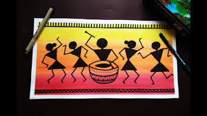 warli art painting for beginners you
