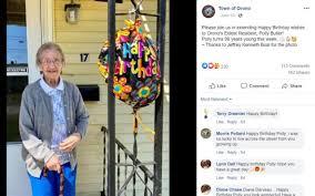 Orono celebrates Boston Post Cane holder's 99th birthday - The Penobscot  Times