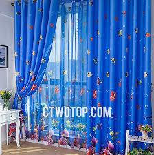 Cute Fun Finding Kids Blackout Nemo Royal Blue Best Curtains