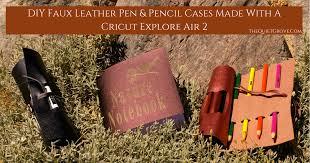diy faux leather pen pencil cases