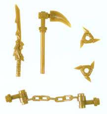 Amazon.com: LEGO Ninjago Gold Weapons Set (Minifigures): Toys & Games